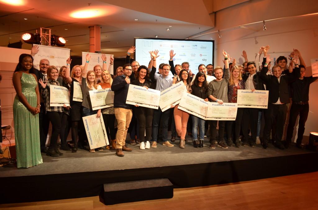 Awardverleihung für Innovationen bei der Future Convention Museum Kommunikation Frankfurt Fink und Fuchs