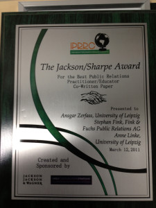 Jackson Sharpe Award Zerfass Fink Linke