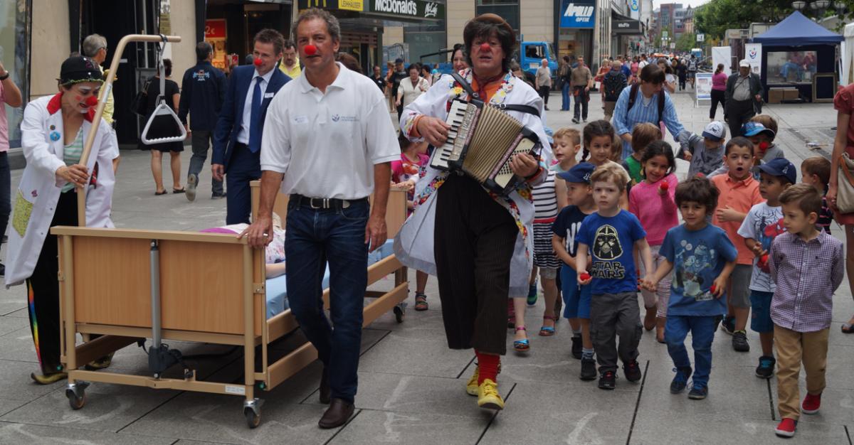 Clowndoktoren in Frankfurt 2015