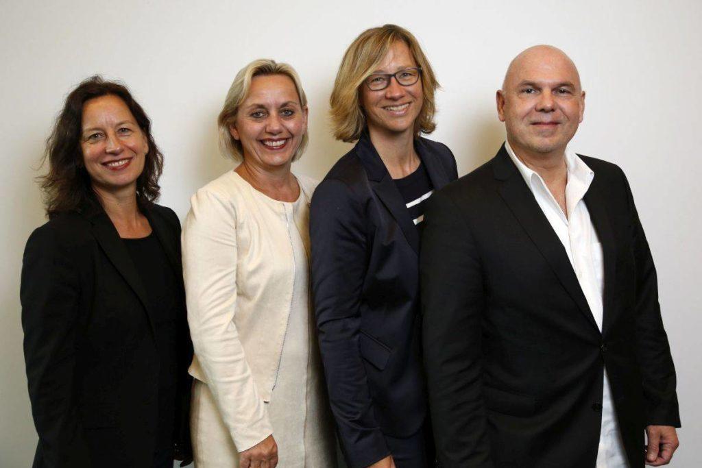 Das neue GPRA-Präsidium (v.l.): Alexandra Groß (Fink & Fuchs), Susanne Marell (Edelman.ergo), Christiane Schulz (Weber Shandwick), Thorsten Hebes (Serviceplan PR)