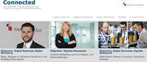 Content Marketing via Connected Blog Messe Frankfurt Digital Services