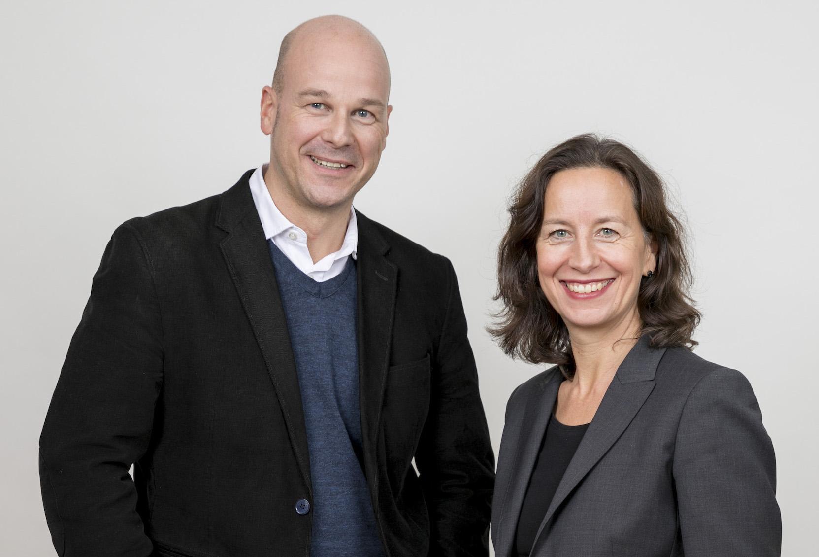 Alexandra Gross und Michael Grupe - Vorstand und Partner bei der Kommunikationsagentur Fink und Fuchs-2017 communications agency