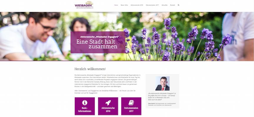 Wiesbaden Engagiert Projekt Website Fink & Fuchs