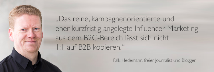 Falk Hedemann Visual Quote Influencer Kommunikation