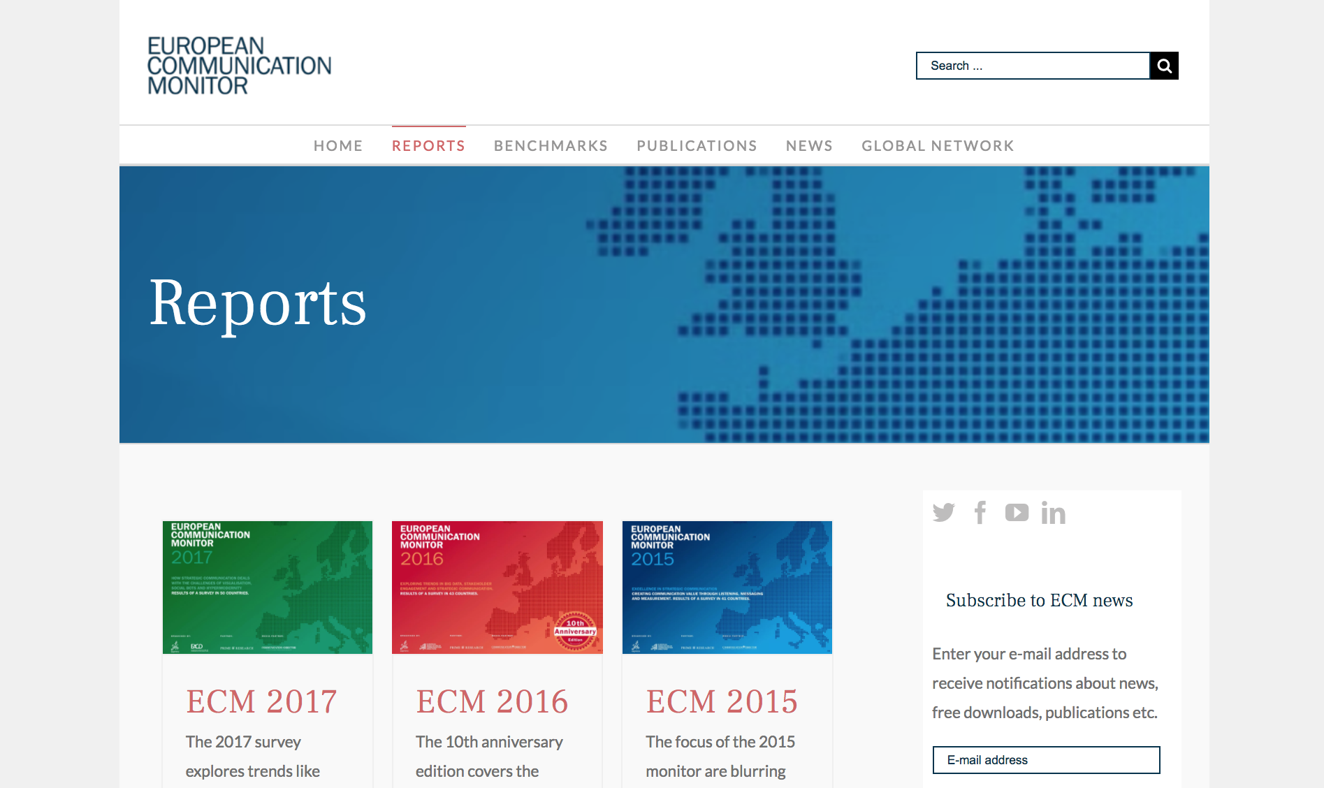 ECM Neue Website European Communication Monitor