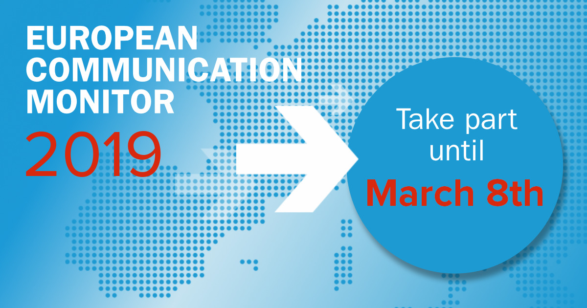 ECM European Communication Monitor 2019 Studie Strategische Kommunikation