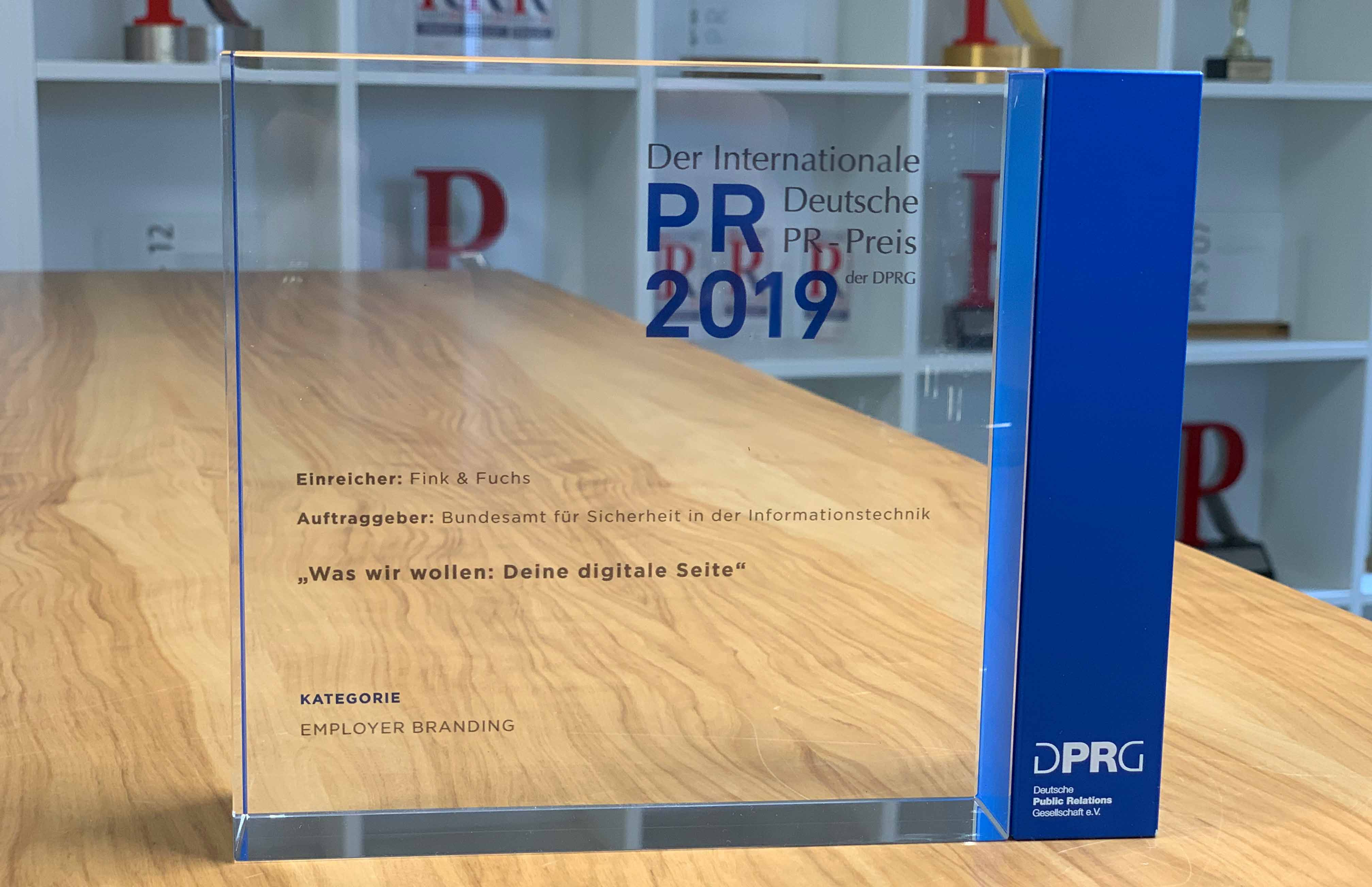 Employer Branding Deutscher PR Preis Fink & Fuchs