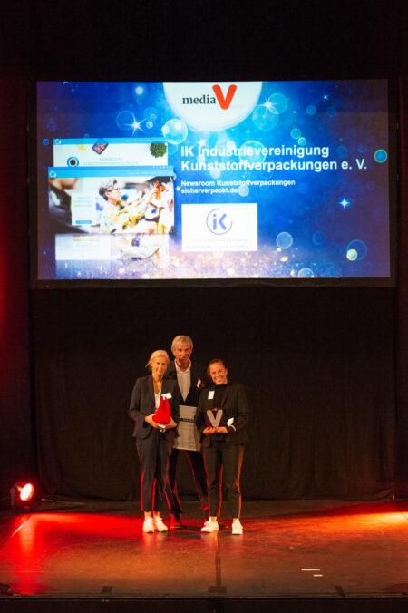 Media V-Award Beste Website fuer IK-Industrievereinignung Kunststoffverpackungen, PlasticsEurope und Fink Fuchs